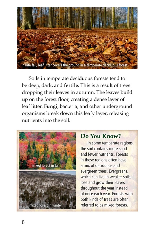 Book Preview For Temperate Deciduous Forests Page 8
