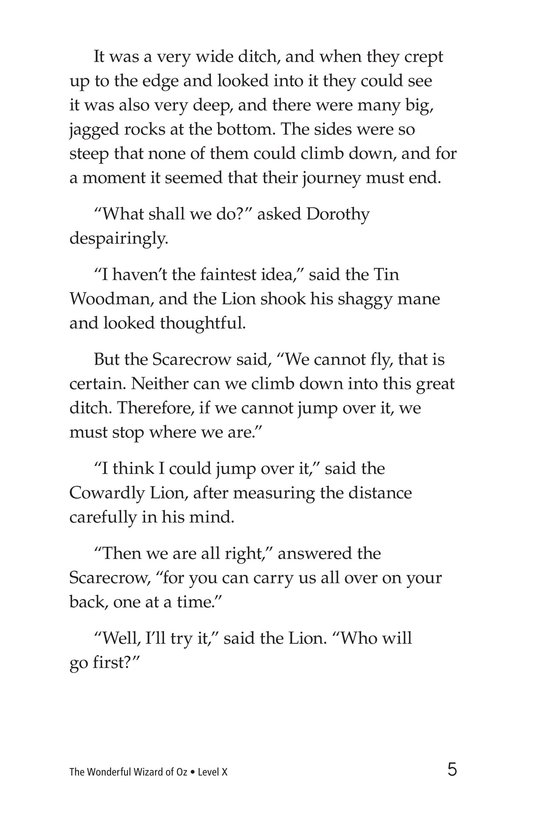 Book Preview For The Wonderful Wizard of Oz (Part 4) Page 5