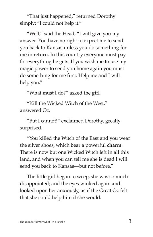 Book Preview For The Wonderful Wizard of Oz (Part 6) Page 13