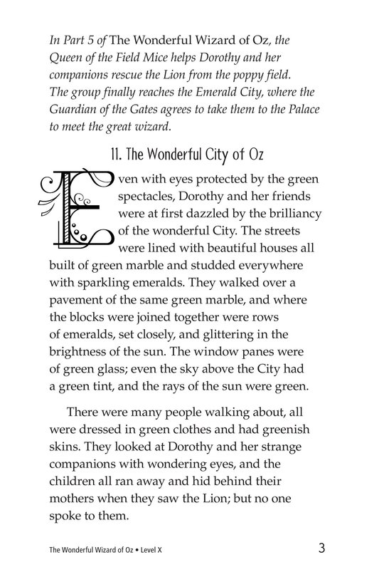 Book Preview For The Wonderful Wizard of Oz (Part 6) Page 3