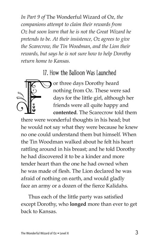 Book Preview For The Wonderful Wizard of Oz (Part 10) Page 3