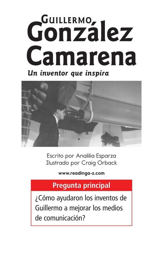 Book Preview For Guillermo González Camarena, un inventor que inspira Page 1