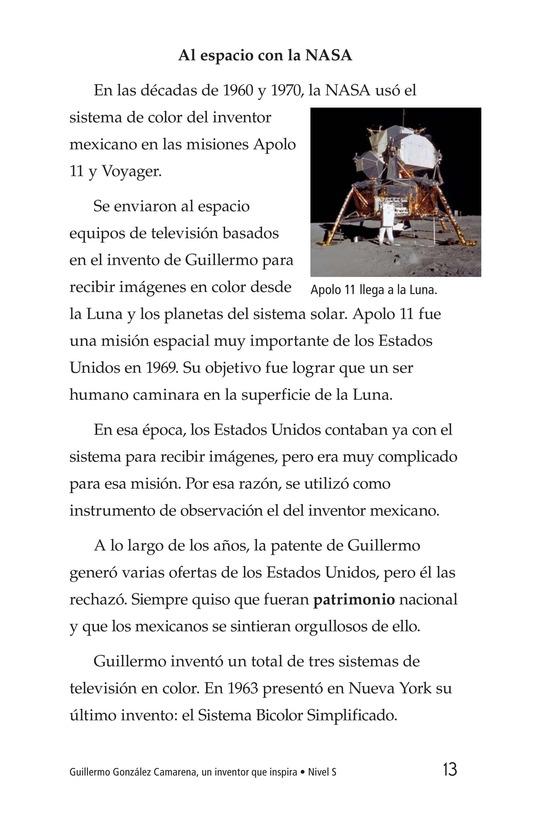 Book Preview For Guillermo González Camarena, un inventor que inspira Page 13