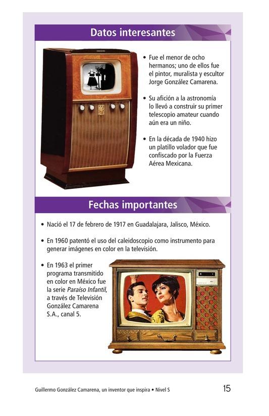 Book Preview For Guillermo González Camarena, un inventor que inspira Page 15