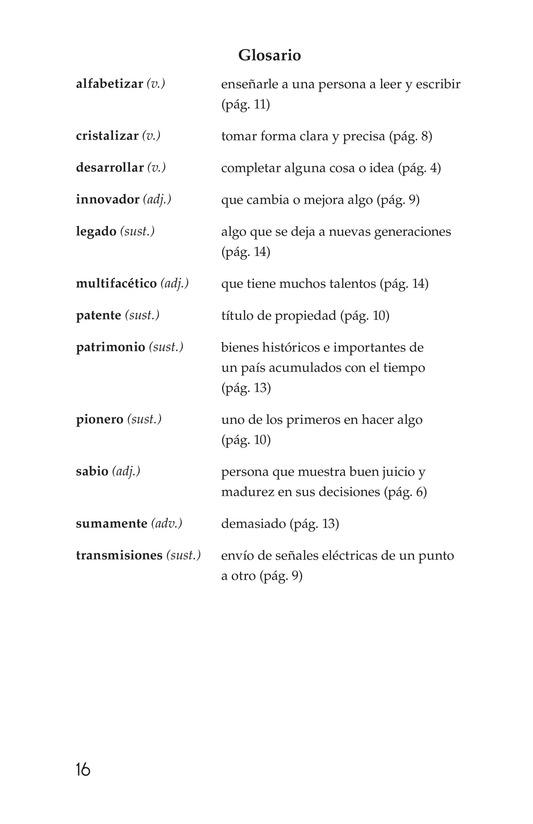 Book Preview For Guillermo González Camarena, un inventor que inspira Page 16