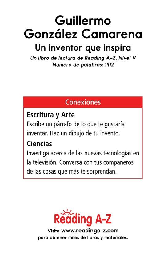 Book Preview For Guillermo González Camarena, un inventor que inspira Page 17