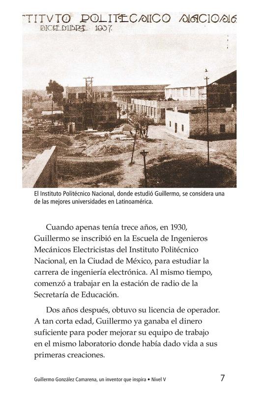 Book Preview For Guillermo González Camarena, un inventor que inspira Page 7