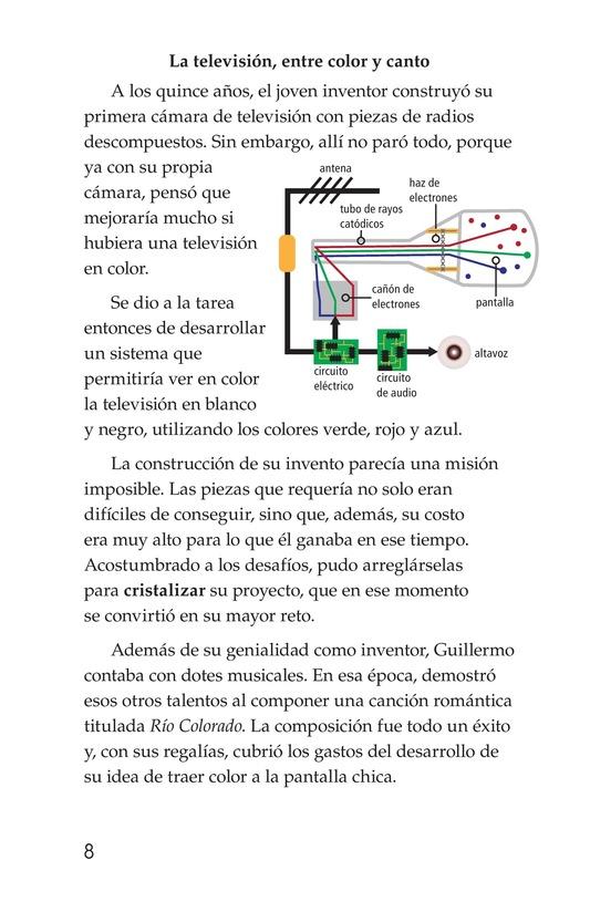 Book Preview For Guillermo González Camarena, un inventor que inspira Page 8