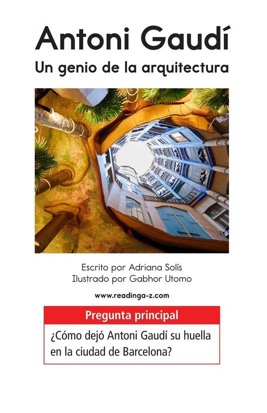 Book Preview For Antoni Gaudí, un genio de la arquitectura Page 1
