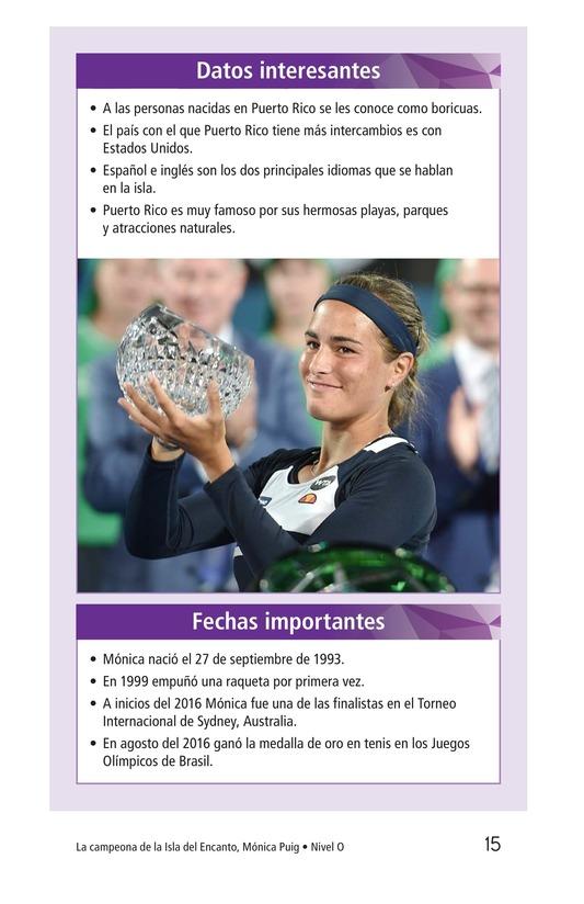 Book Preview For La campeona de la Isla del Encanto, Mónica Puig Page 15