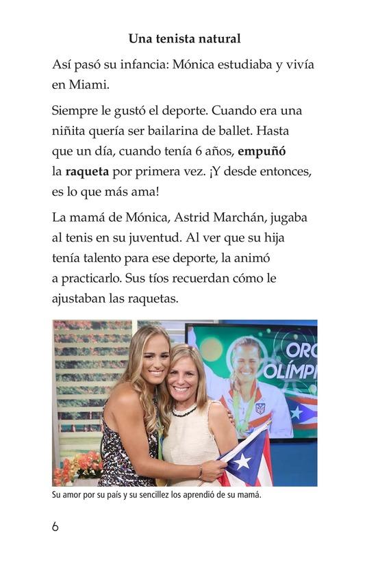 Book Preview For La campeona de la Isla del Encanto, Mónica Puig Page 6