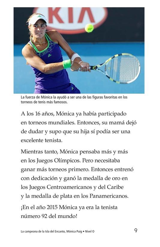 Book Preview For La campeona de la Isla del Encanto, Mónica Puig Page 9