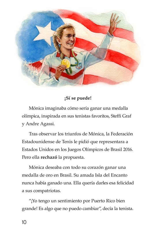Book Preview For La campeona de la Isla del Encanto, Mónica Puig Page 10