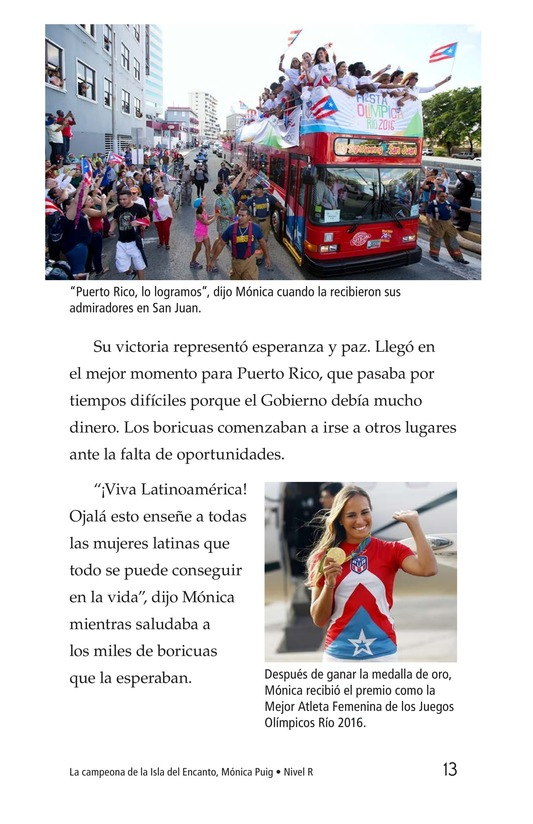 Book Preview For La campeona de la Isla del Encanto, Mónica Puig Page 13