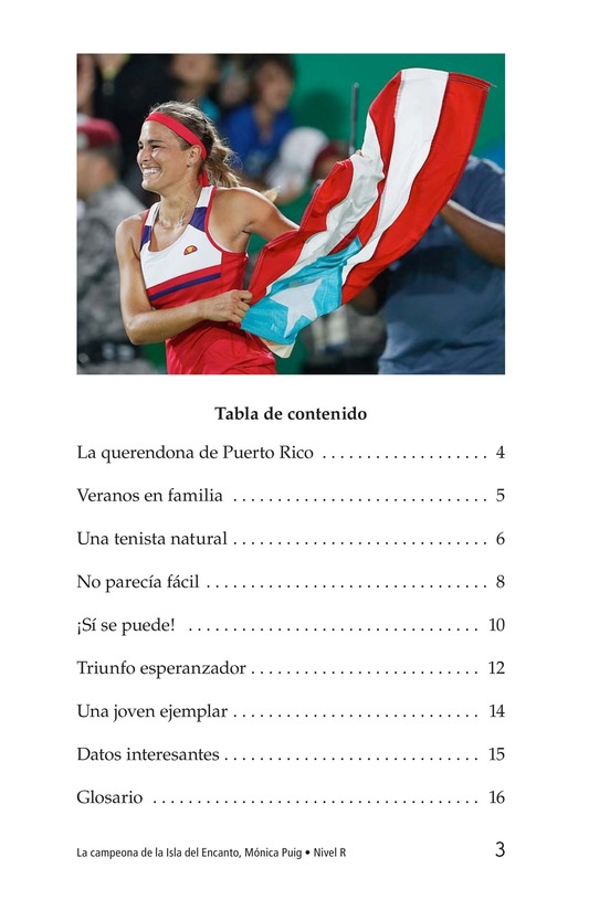 Book Preview For La campeona de la Isla del Encanto, Mónica Puig Page 3