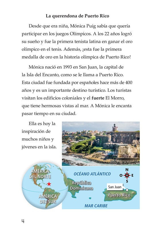 Book Preview For La campeona de la Isla del Encanto, Mónica Puig Page 4