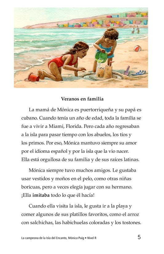Book Preview For La campeona de la Isla del Encanto, Mónica Puig Page 5