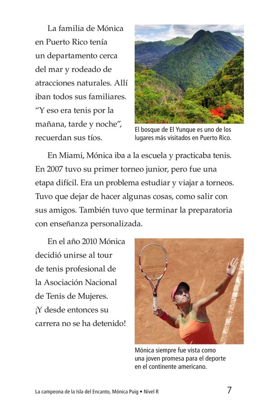 Book Preview For La campeona de la Isla del Encanto, Mónica Puig Page 7