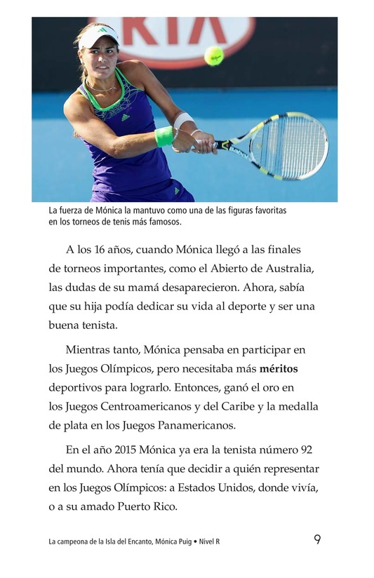 Book Preview For La campeona de la Isla del Encanto, Mónica Puig Page 9