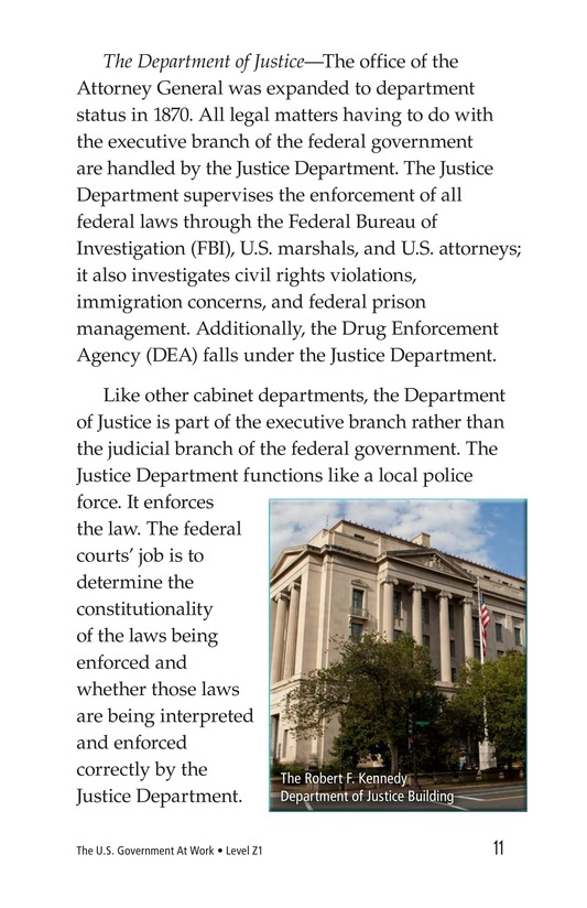 Book Preview For The U.S. Government At Work Page 11