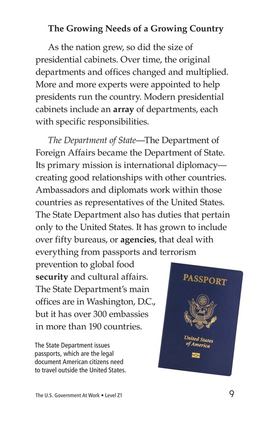 Book Preview For The U.S. Government At Work Page 9