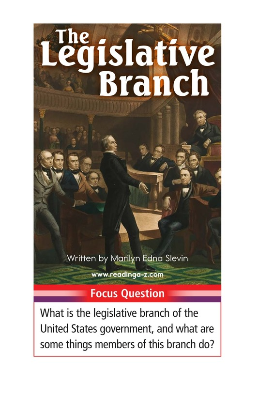 Book Preview For The Legislative Branch Page 1