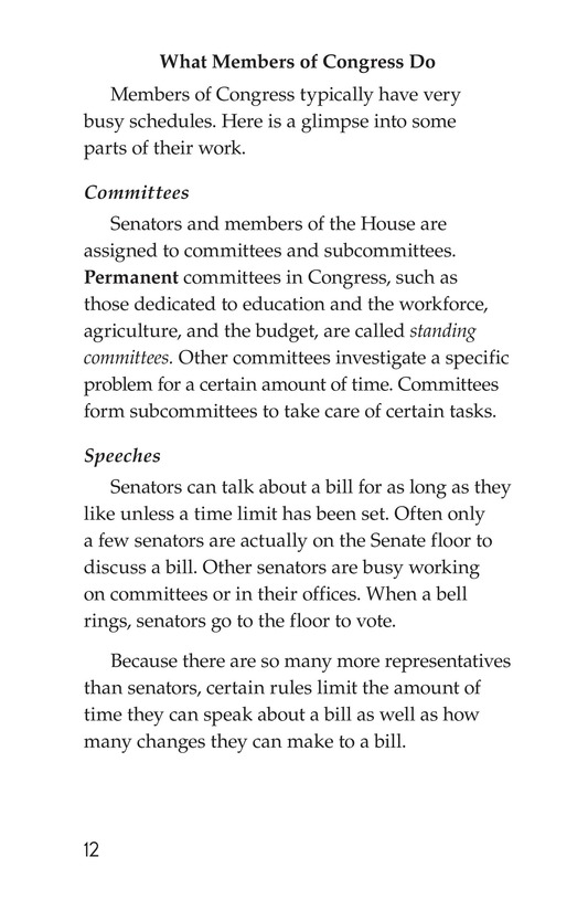 Book Preview For The Legislative Branch Page 12