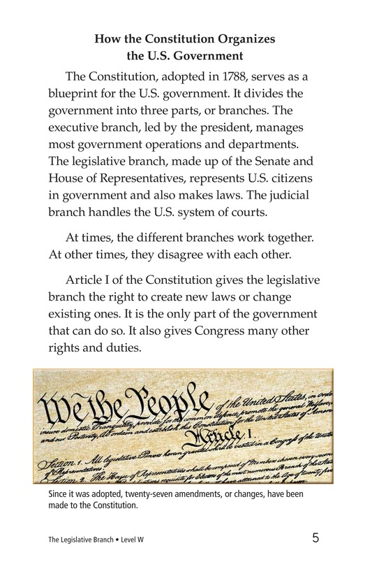 Book Preview For The Legislative Branch Page 5
