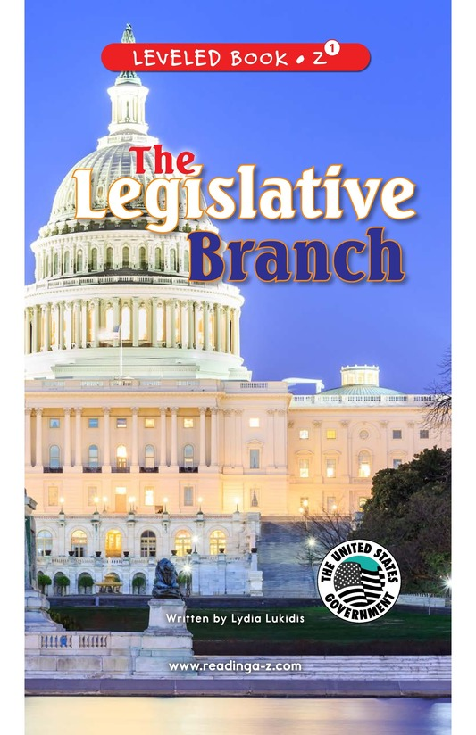 Book Preview For The Legislative Branch Page 0