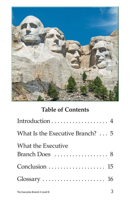 Book Preview For The Executive Branch Page 3