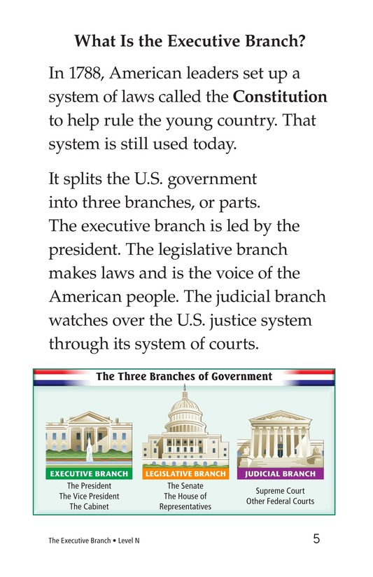 Book Preview For The Executive Branch Page 5