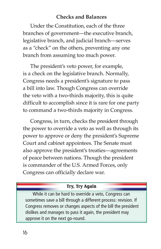 Book Preview For The Executive Branch Page 16