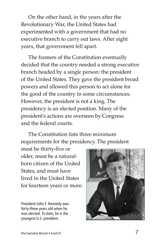 Book Preview For The Executive Branch Page 7