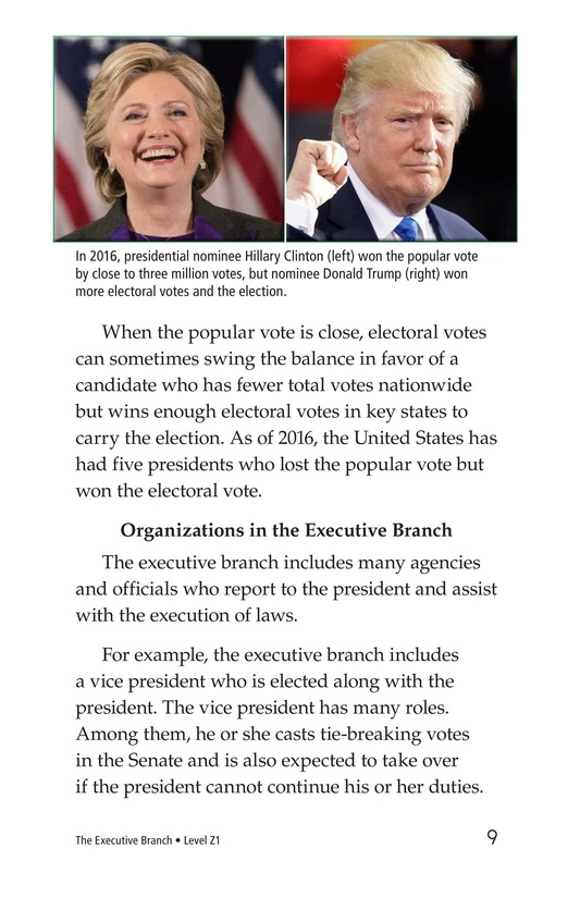 Book Preview For The Executive Branch Page 9