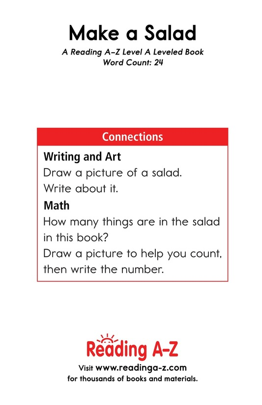 Book Preview For Make a Salad Page 11