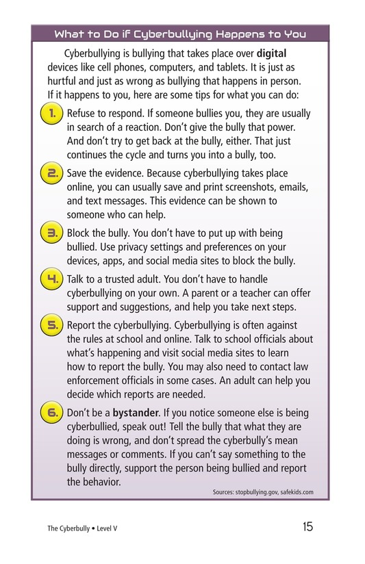 Book Preview For The Cyberbully Page 15