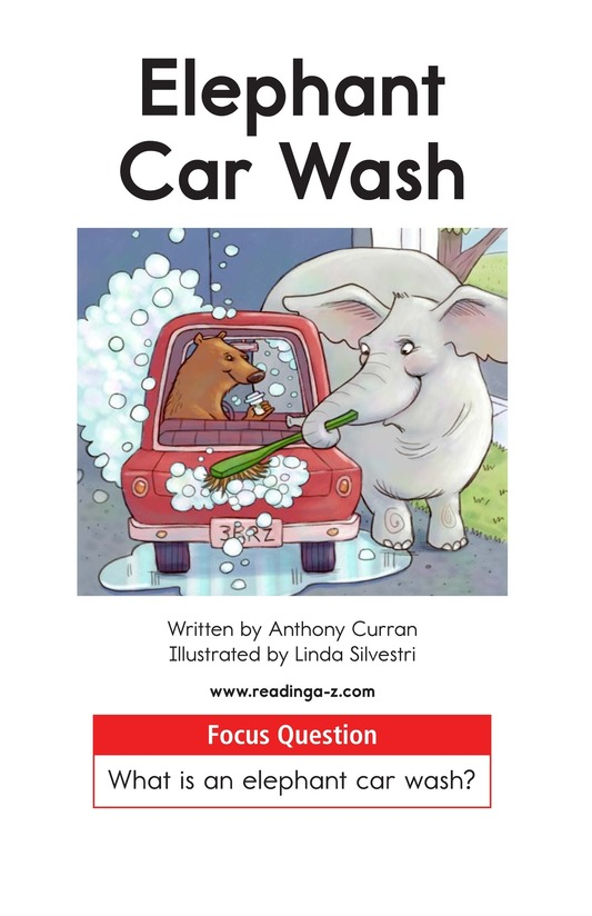 Book Preview For Elephant Car Wash Page 1