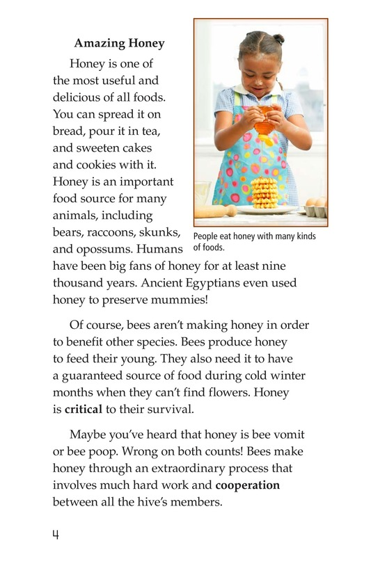 Book Preview For How Bees Make Honey Page 4