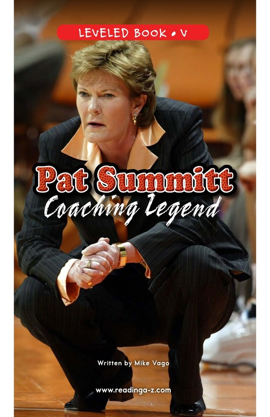 Book Preview For Pat Summitt: Coaching Legend Page 0