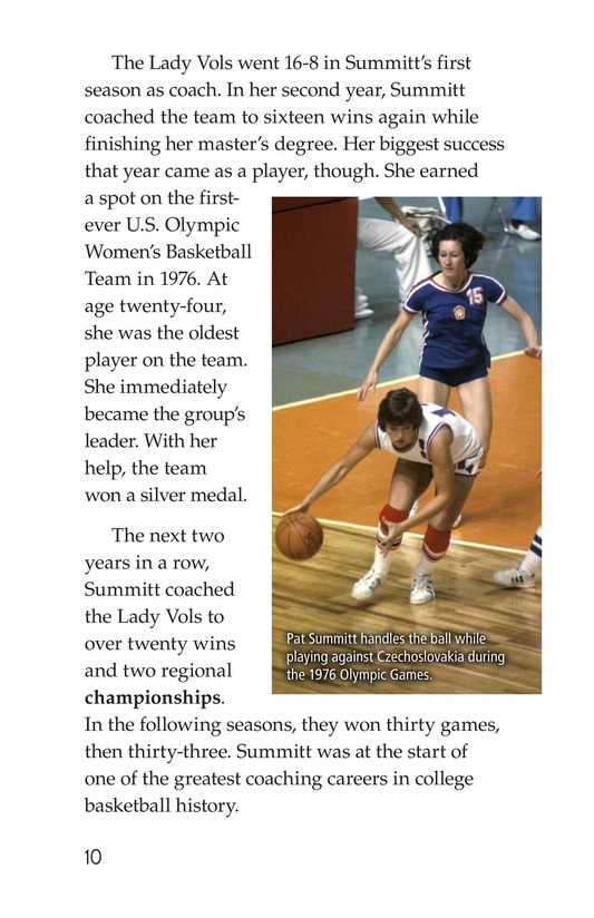Book Preview For Pat Summitt: Coaching Legend Page 10