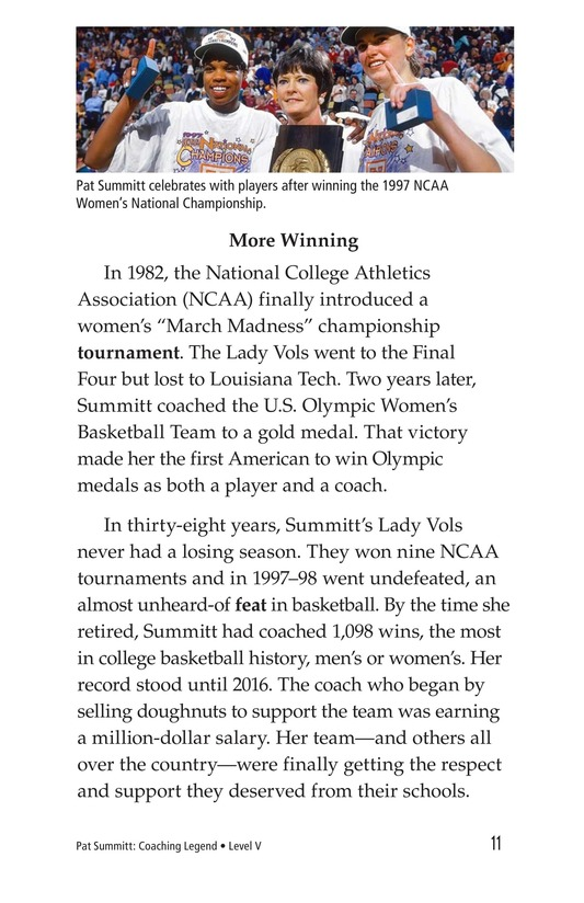 Book Preview For Pat Summitt: Coaching Legend Page 11