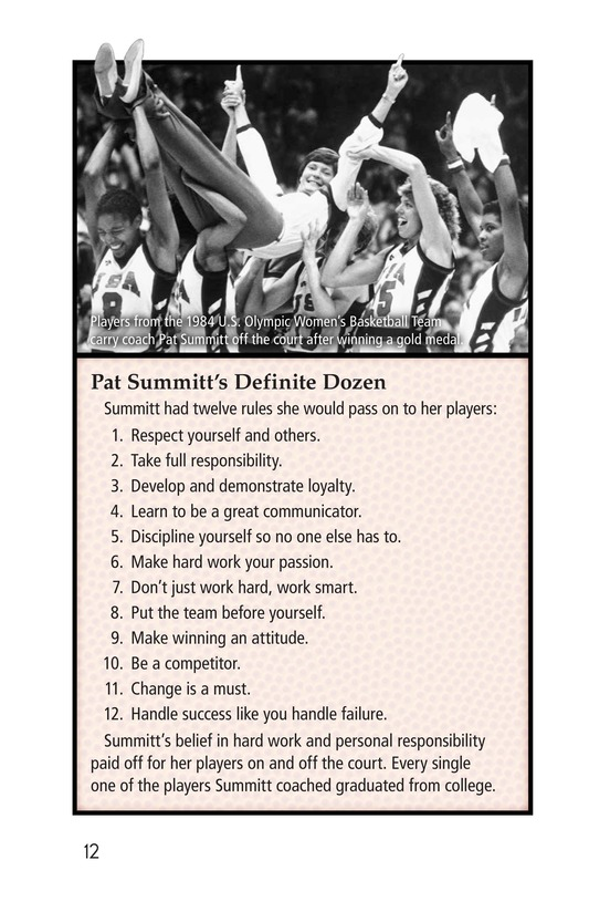 Book Preview For Pat Summitt: Coaching Legend Page 12