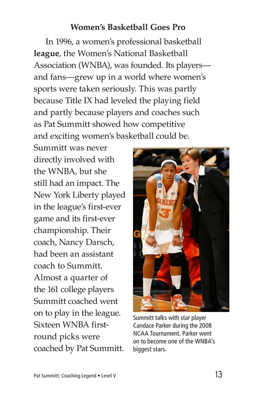 Book Preview For Pat Summitt: Coaching Legend Page 13
