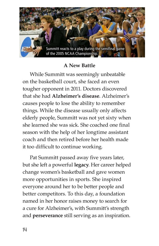 Book Preview For Pat Summitt: Coaching Legend Page 14