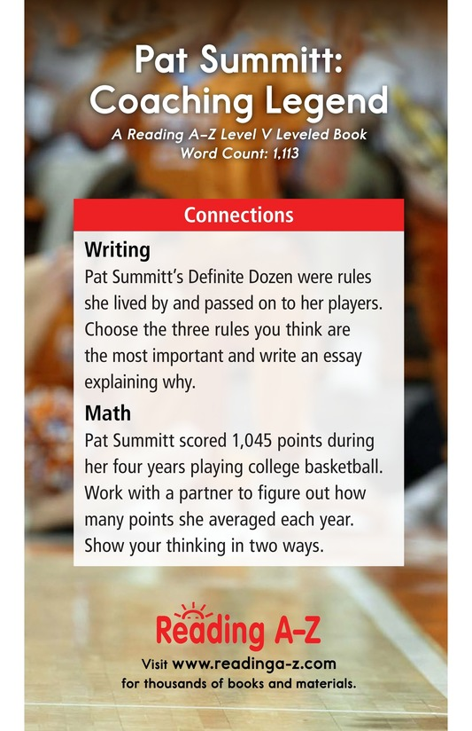 Book Preview For Pat Summitt: Coaching Legend Page 17