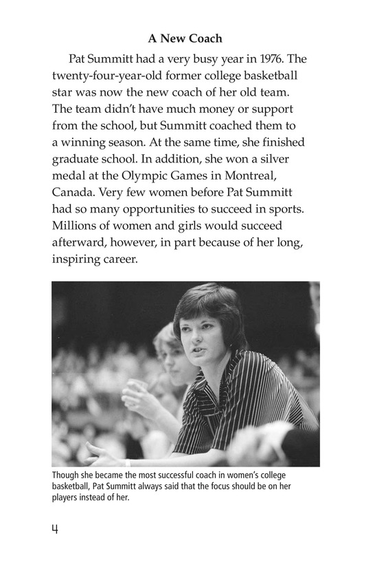 Book Preview For Pat Summitt: Coaching Legend Page 4