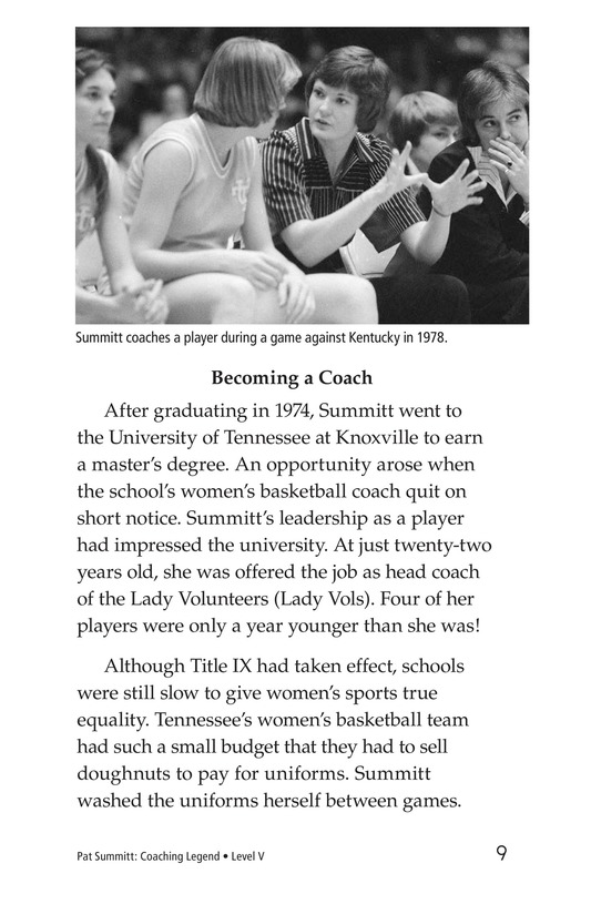 Book Preview For Pat Summitt: Coaching Legend Page 9