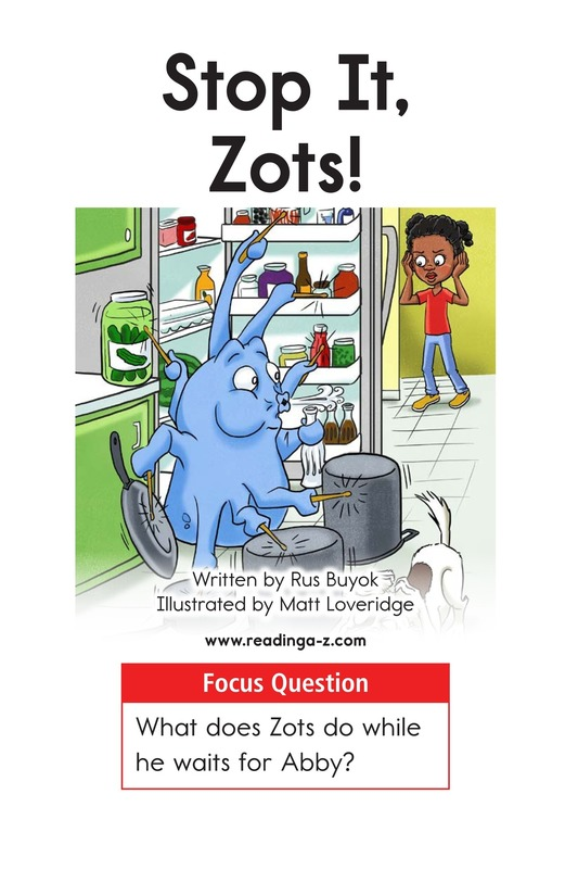 Book Preview For Stop It, Zots! Page 1