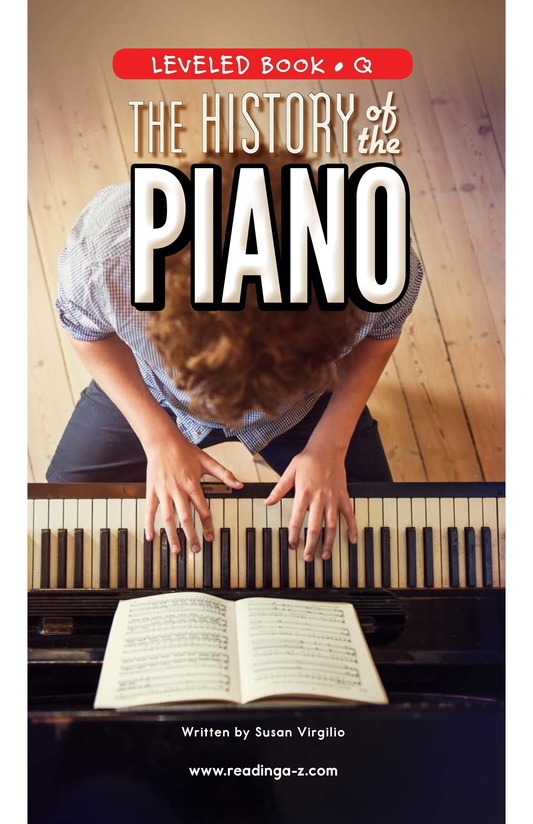Book Preview For The History of the Piano Page 0