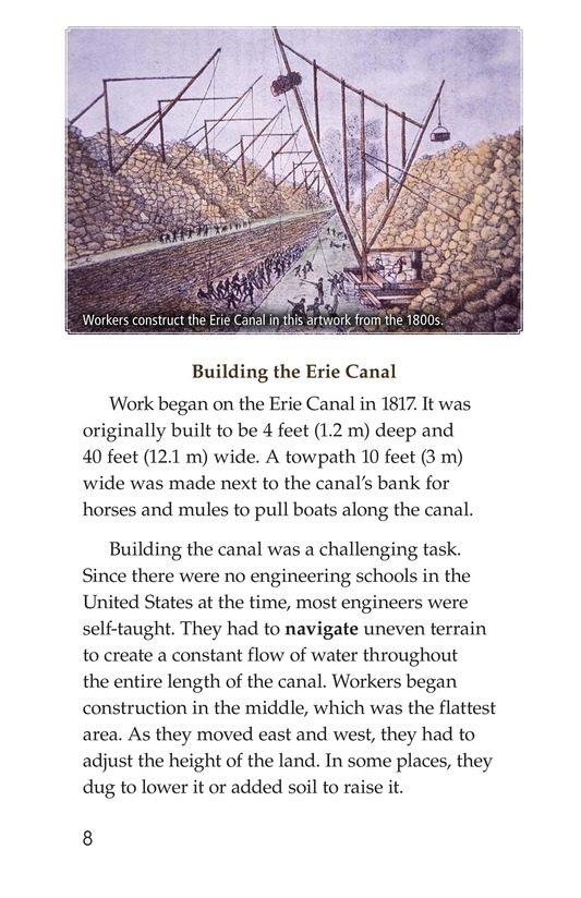 Book Preview For The Erie Canal Page 8